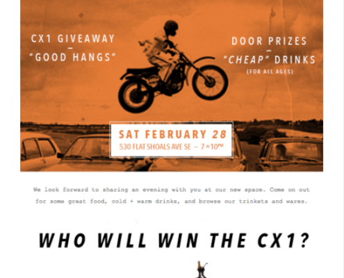 "BrotherMoto Email Marketing Campaign. Example of a question that engages and prompts the user to think if they should act - ""WHO WILL WIN THE CX1?"""