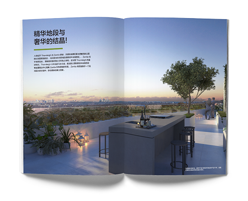 Chinese property brochure design